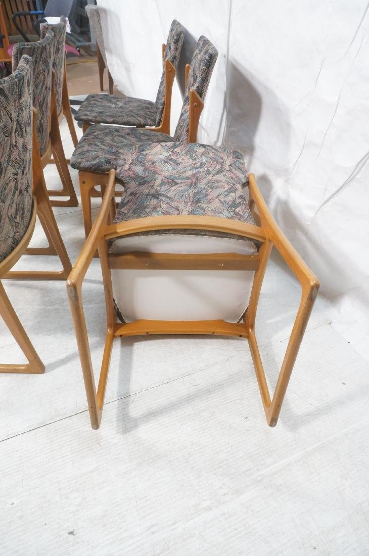 6 Danish Teak Dining Chairs. 2 arm chairs. Tall t - 7