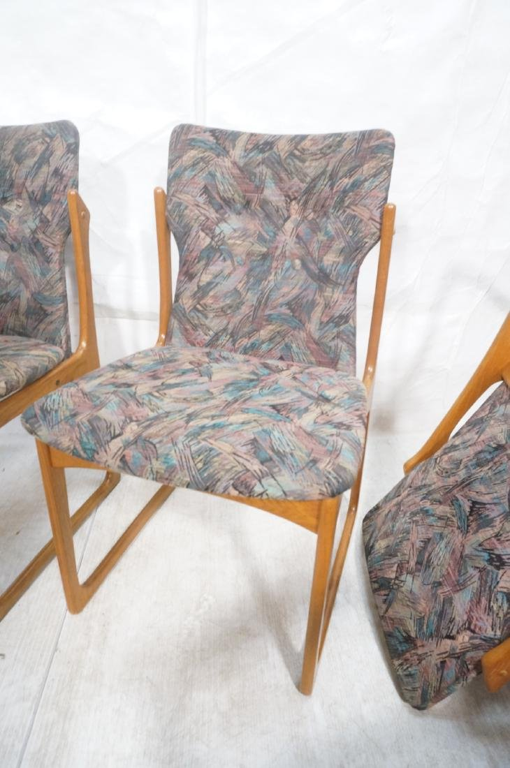 6 Danish Teak Dining Chairs. 2 arm chairs. Tall t - 9