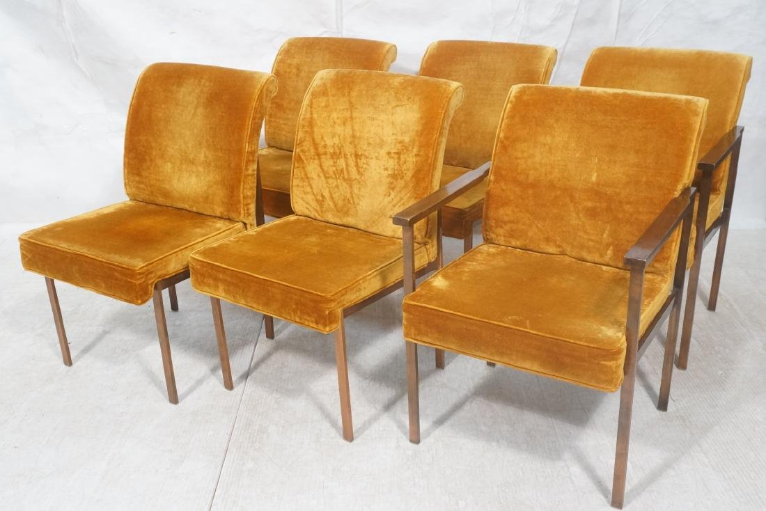 6 LANE Copper Color Frame Dining Chairs. 4 side c