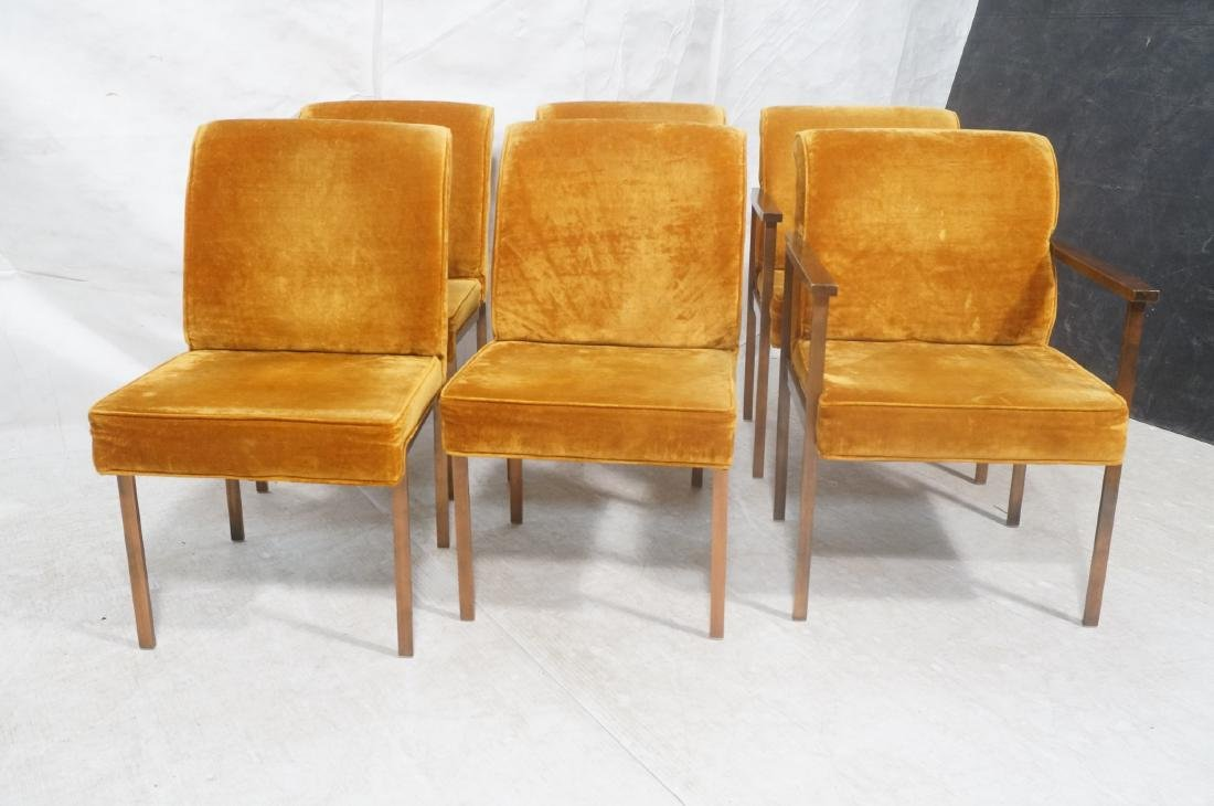 6 LANE Copper Color Frame Dining Chairs. 4 side c - 3
