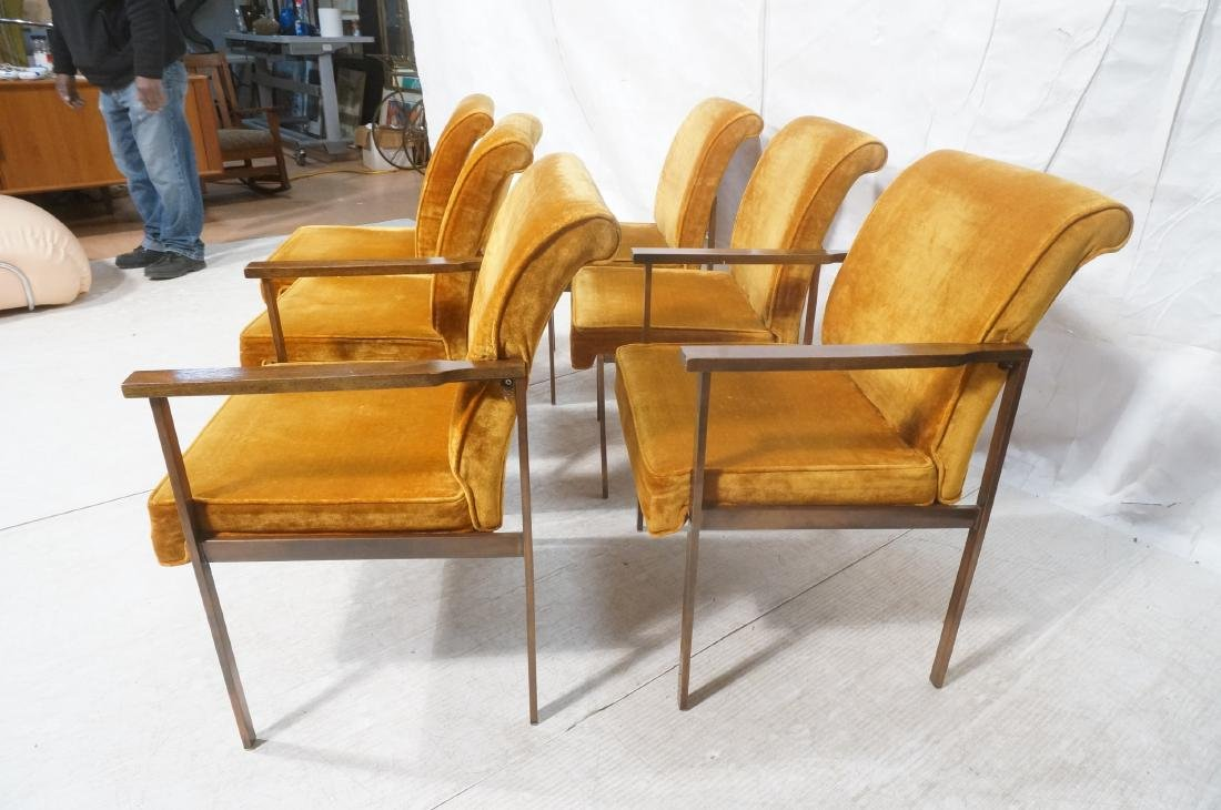 6 LANE Copper Color Frame Dining Chairs. 4 side c - 5