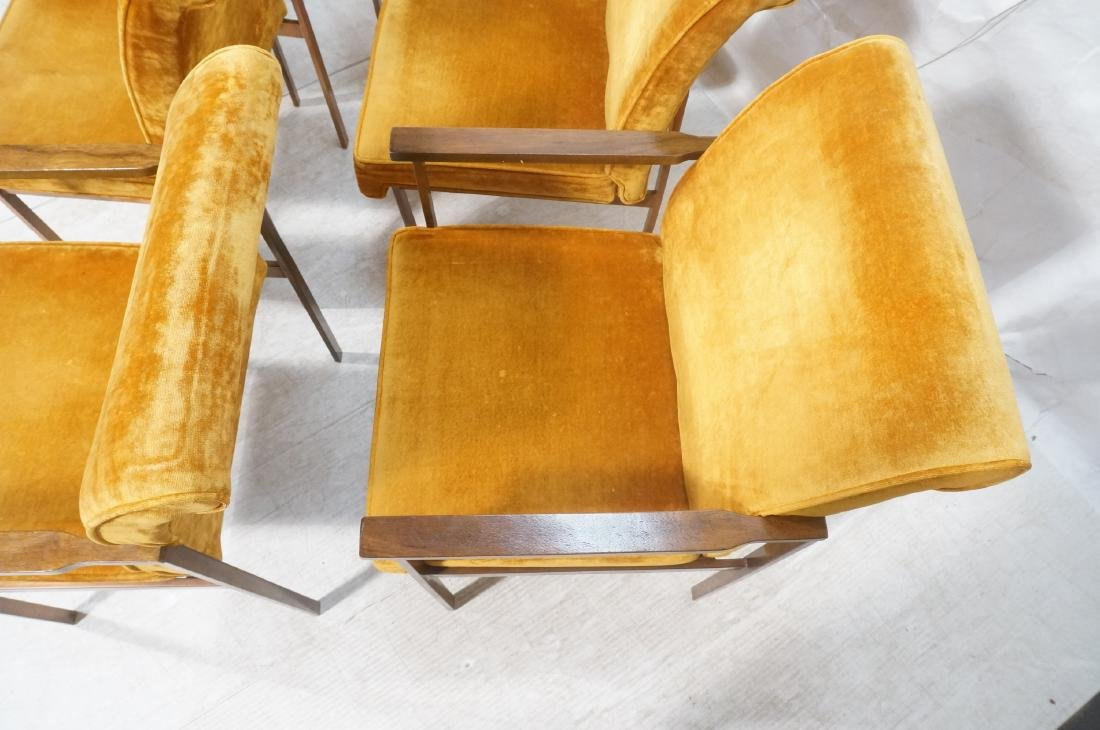 6 LANE Copper Color Frame Dining Chairs. 4 side c - 6