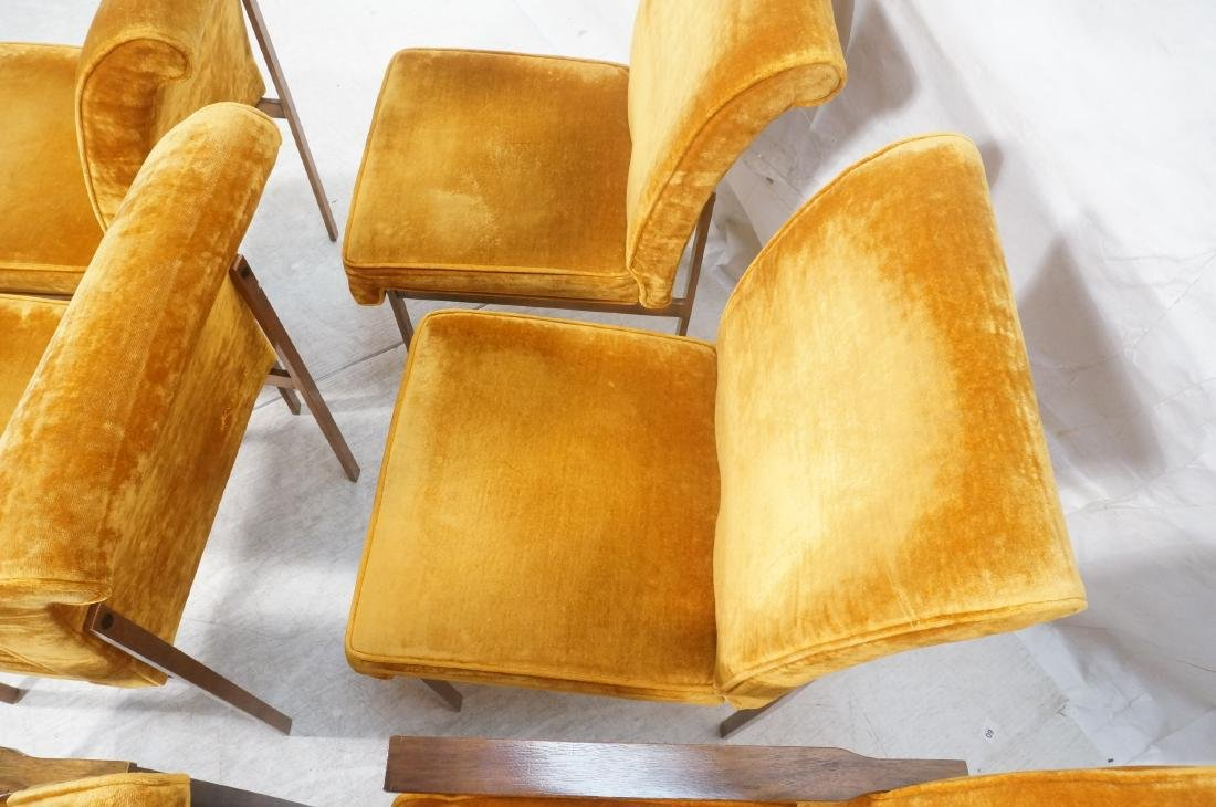 6 LANE Copper Color Frame Dining Chairs. 4 side c - 7
