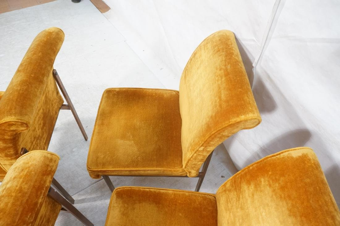 6 LANE Copper Color Frame Dining Chairs. 4 side c - 8