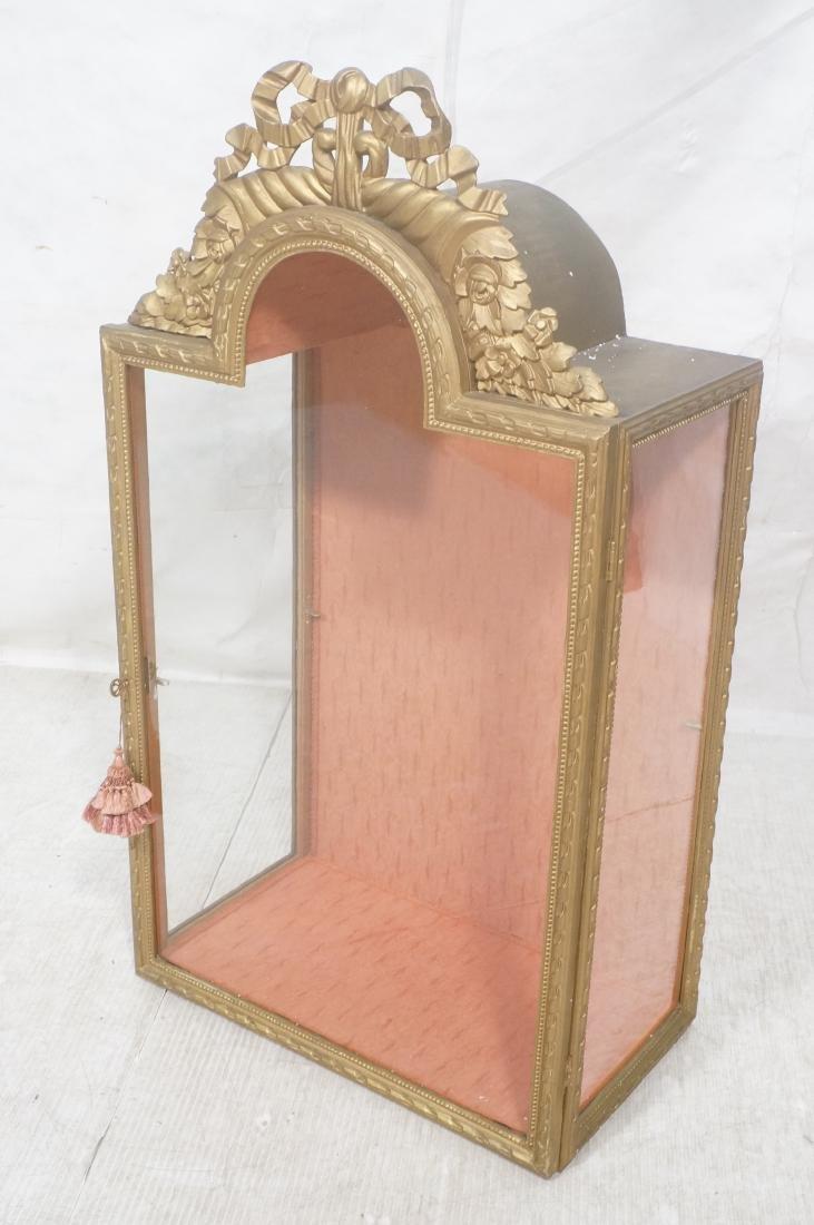 Decorative Molding Curio Display Cabinet. Arched