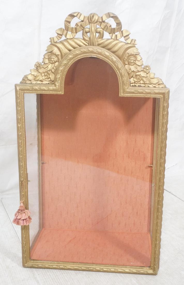 Decorative Molding Curio Display Cabinet. Arched - 2