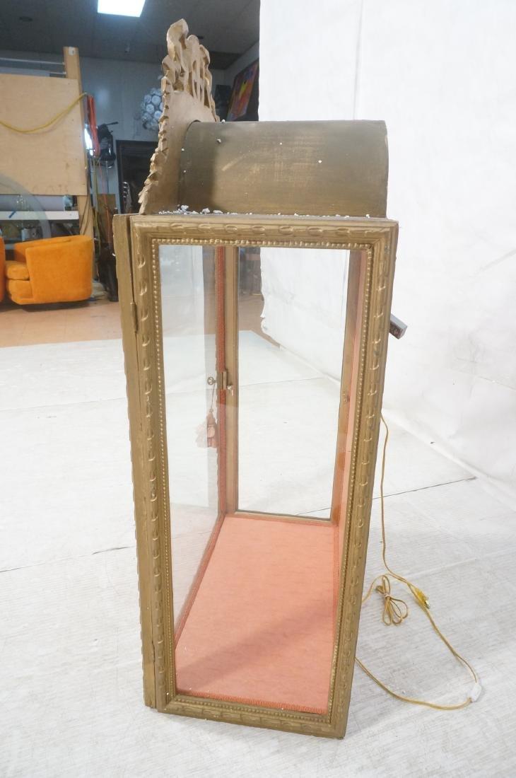 Decorative Molding Curio Display Cabinet. Arched - 6