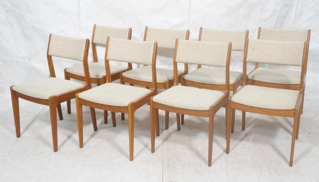 Set 8 Danish Modern Teak Dining Chairs. All Side