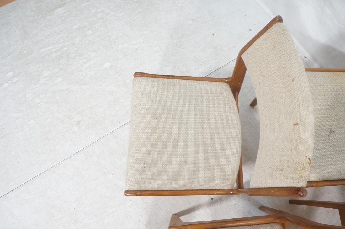 Set 8 Danish Modern Teak Dining Chairs. All Side - 4