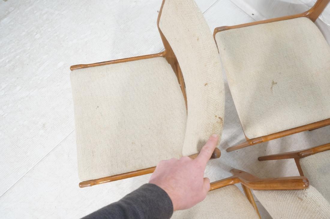 Set 8 Danish Modern Teak Dining Chairs. All Side - 5