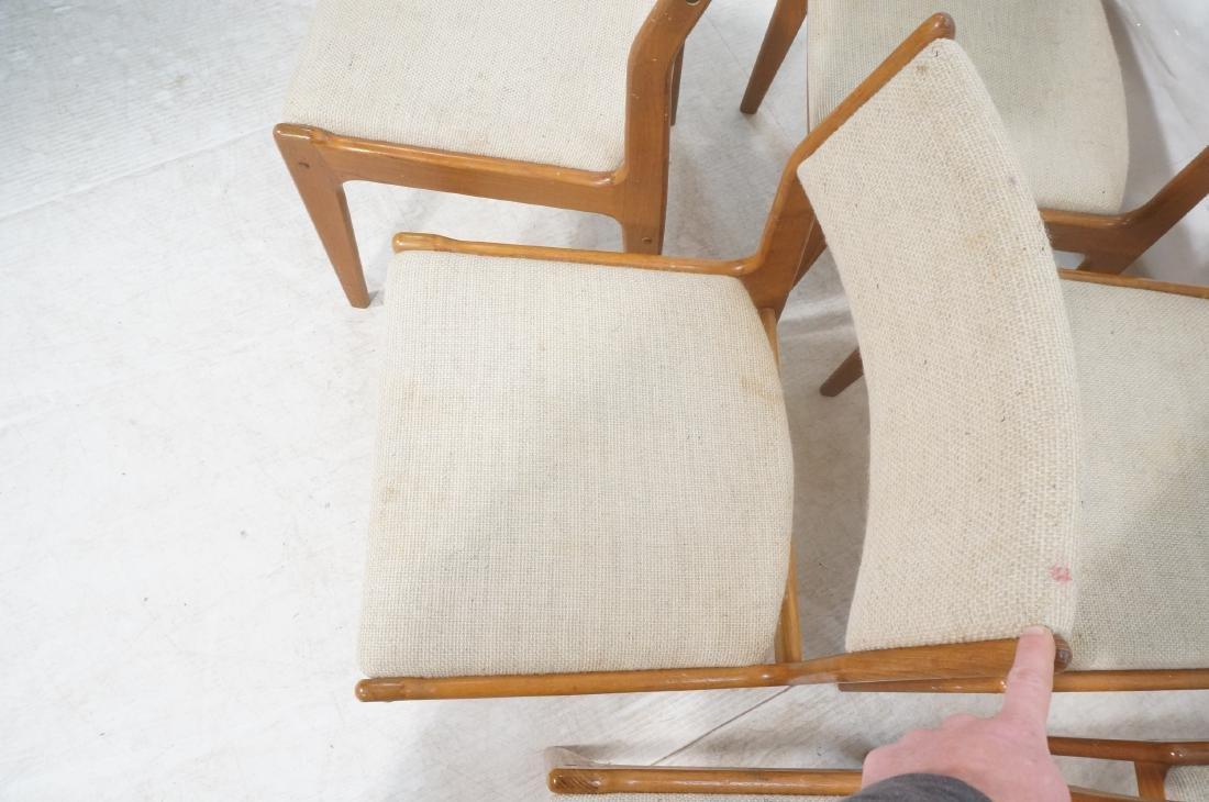 Set 8 Danish Modern Teak Dining Chairs. All Side - 6