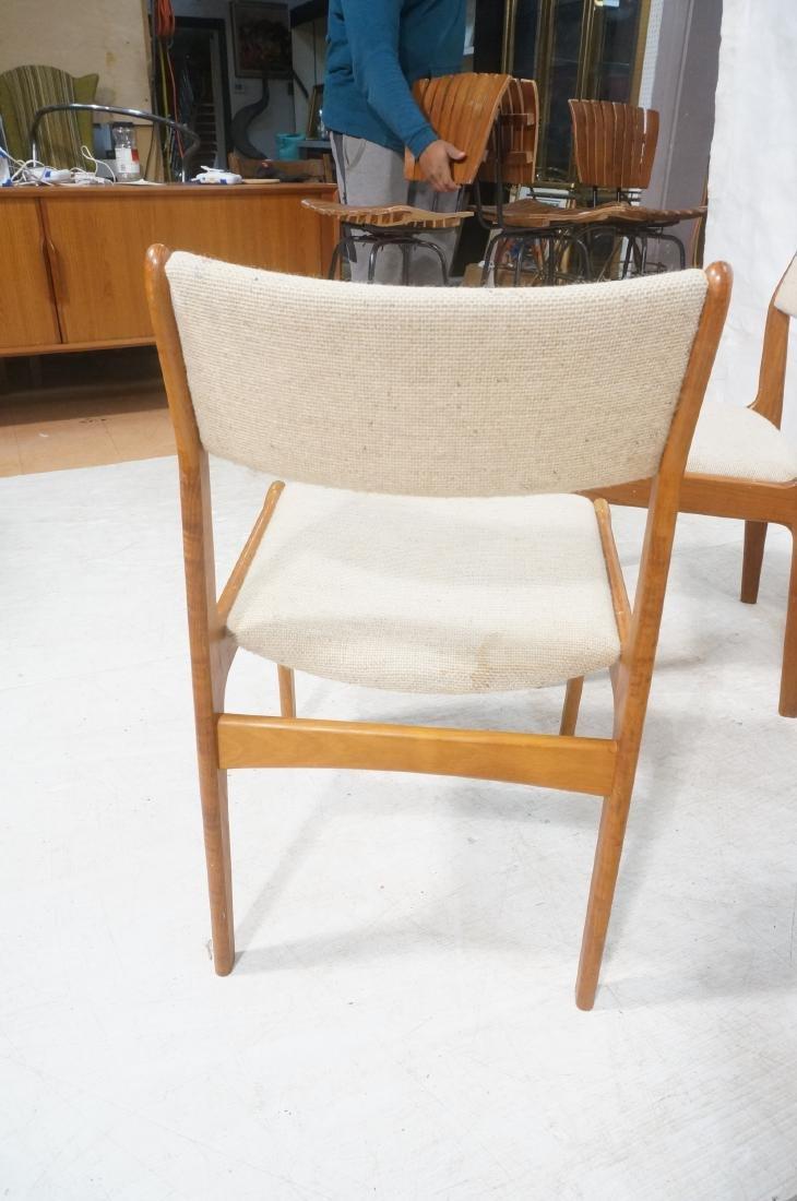 Set 8 Danish Modern Teak Dining Chairs. All Side - 7