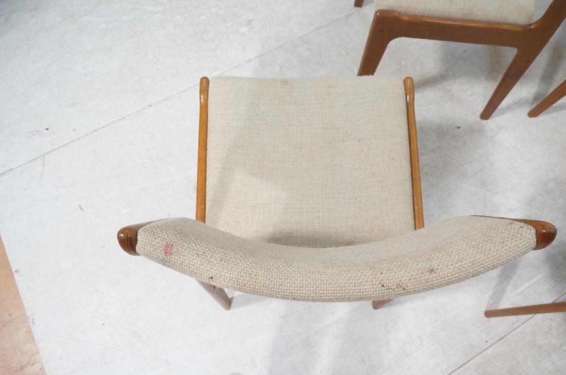 Set 8 Danish Modern Teak Dining Chairs. All Side - 8