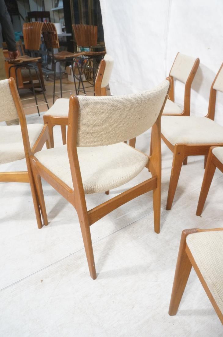 Set 8 Danish Modern Teak Dining Chairs. All Side - 9