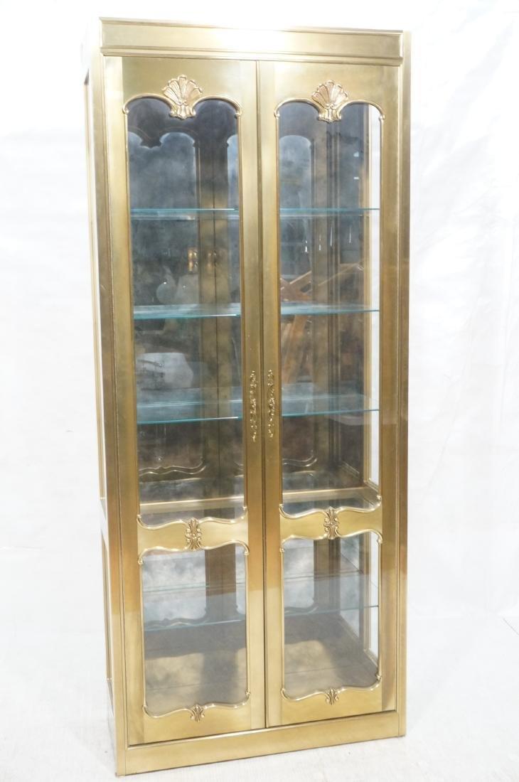 Large MASTERCRAFT Brass & Glass Display Cabinet. - 2