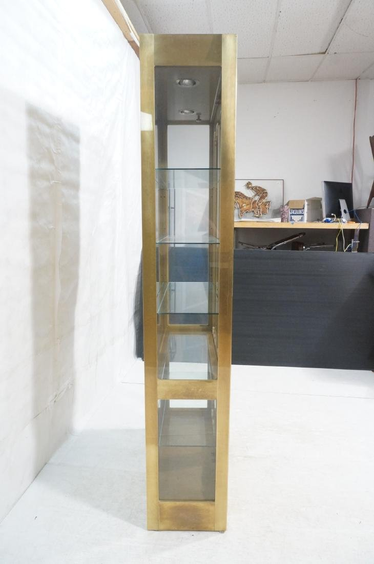 Large MASTERCRAFT Brass & Glass Display Cabinet. - 4