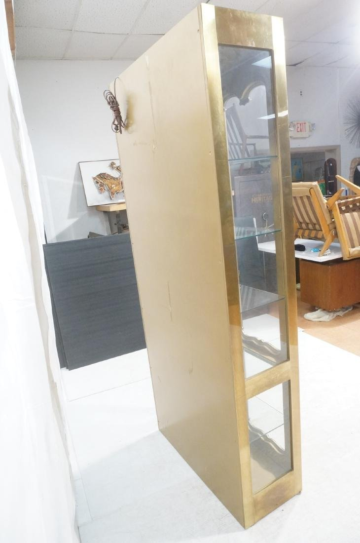 Large MASTERCRAFT Brass & Glass Display Cabinet. - 5