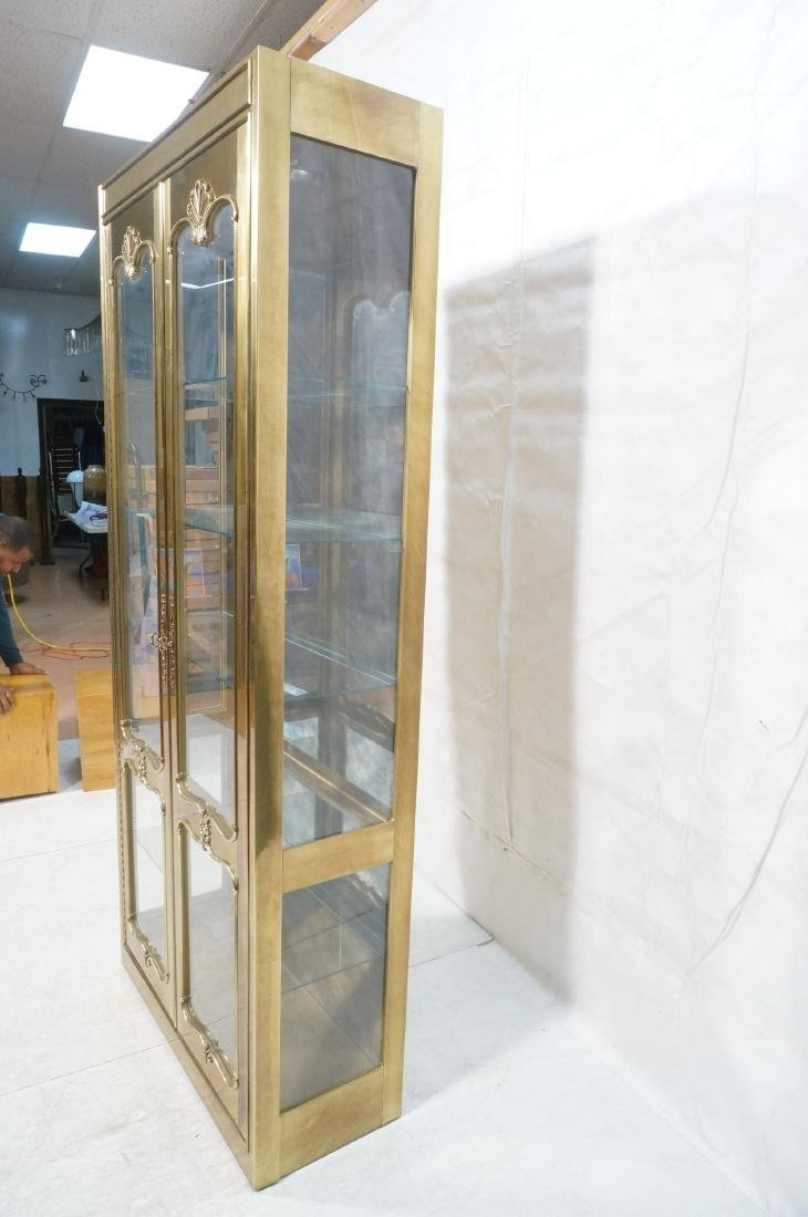 Large MASTERCRAFT Brass & Glass Display Cabinet. - 6