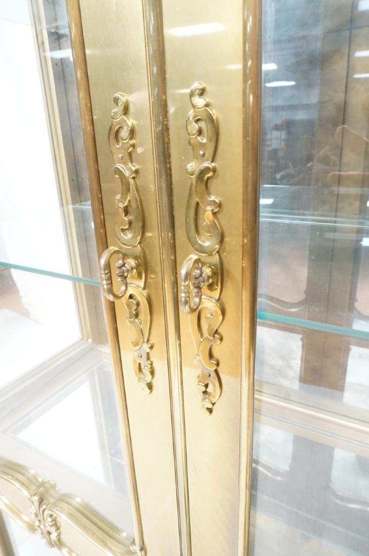 Large MASTERCRAFT Brass & Glass Display Cabinet. - 7