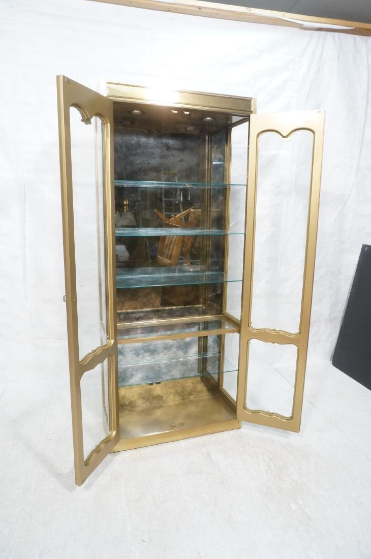 Large MASTERCRAFT Brass & Glass Display Cabinet. - 9