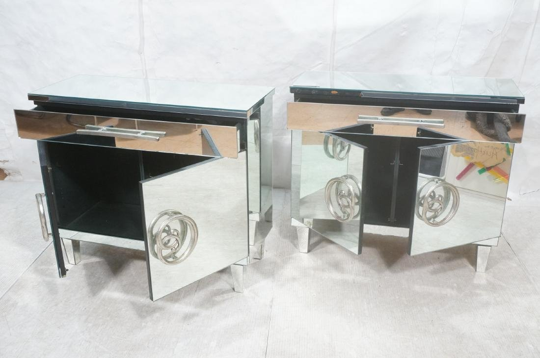 Pr Hollywood Recency Mirrored Cabinet Chest. Cabi - 8