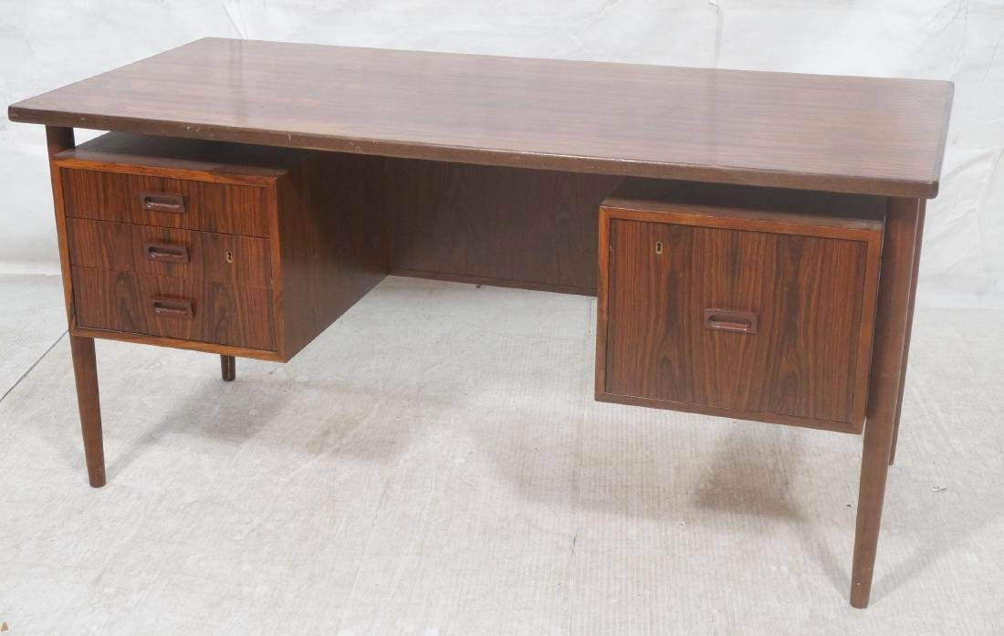 Rosewood BORNHOLM Danish Modernist Writing Desk.