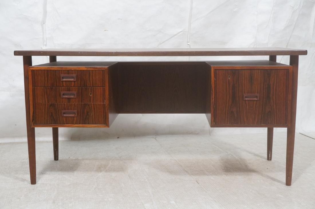 Rosewood BORNHOLM Danish Modernist Writing Desk. - 2