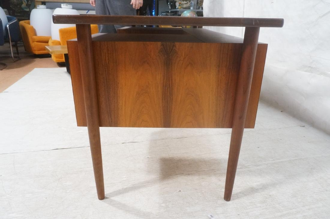 Rosewood BORNHOLM Danish Modernist Writing Desk. - 7