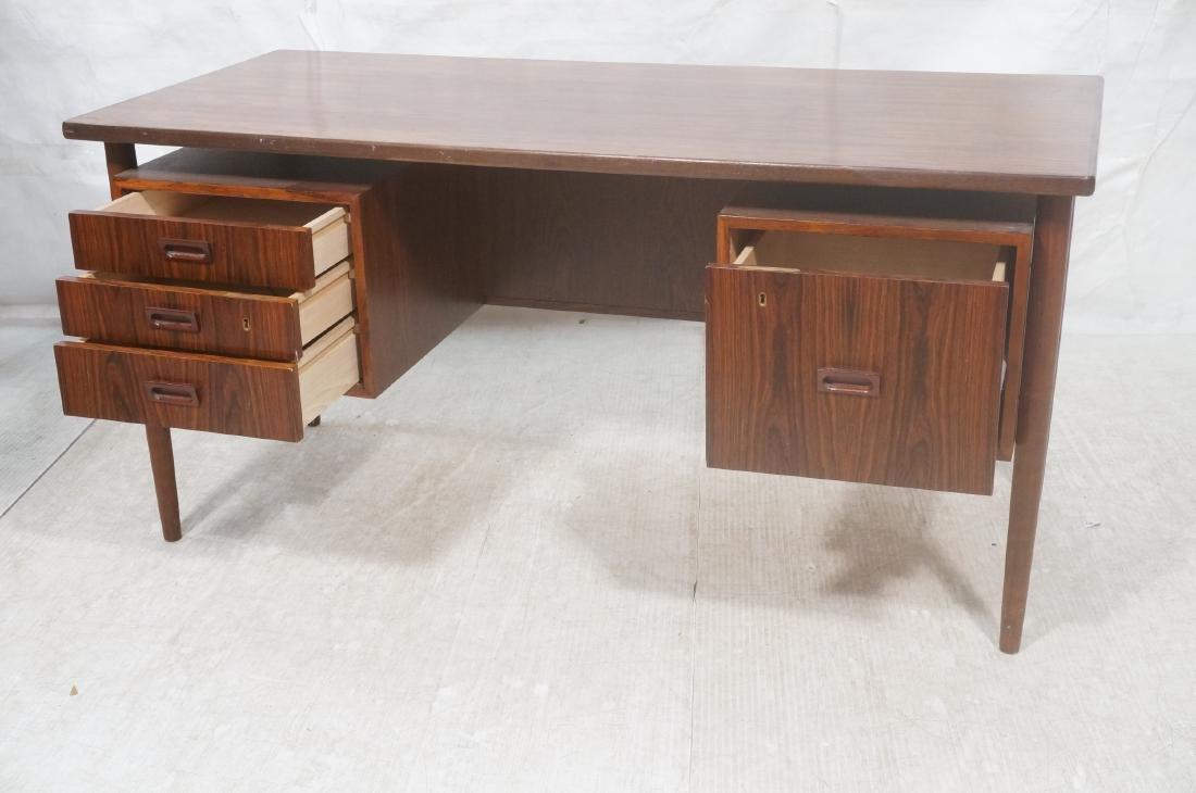 Rosewood BORNHOLM Danish Modernist Writing Desk. - 9