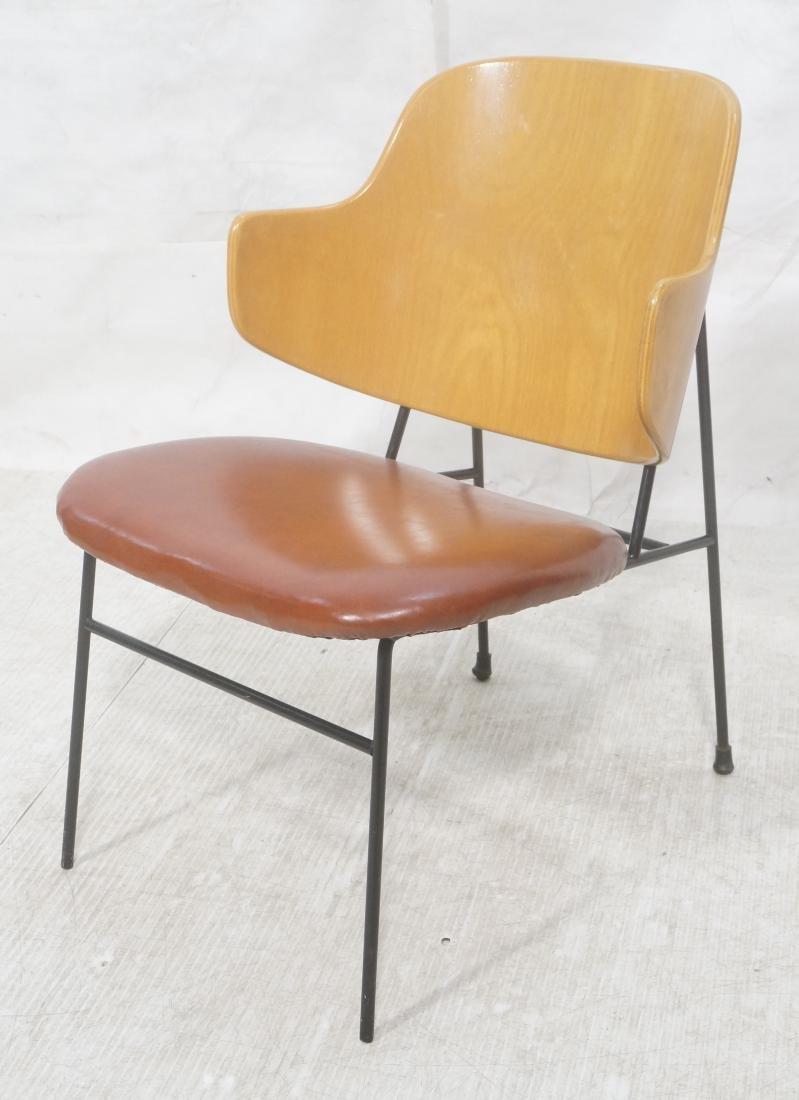 KOFOD LARSEN  Danish Modern Lounge Chair. Leather
