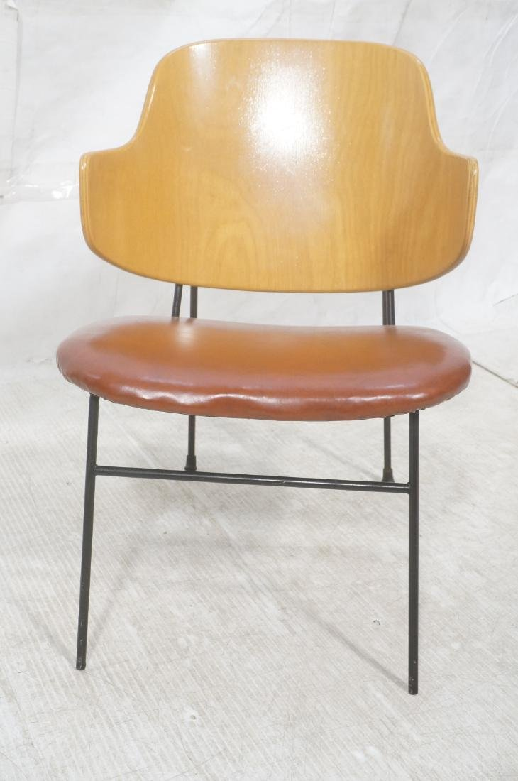 KOFOD LARSEN  Danish Modern Lounge Chair. Leather - 2