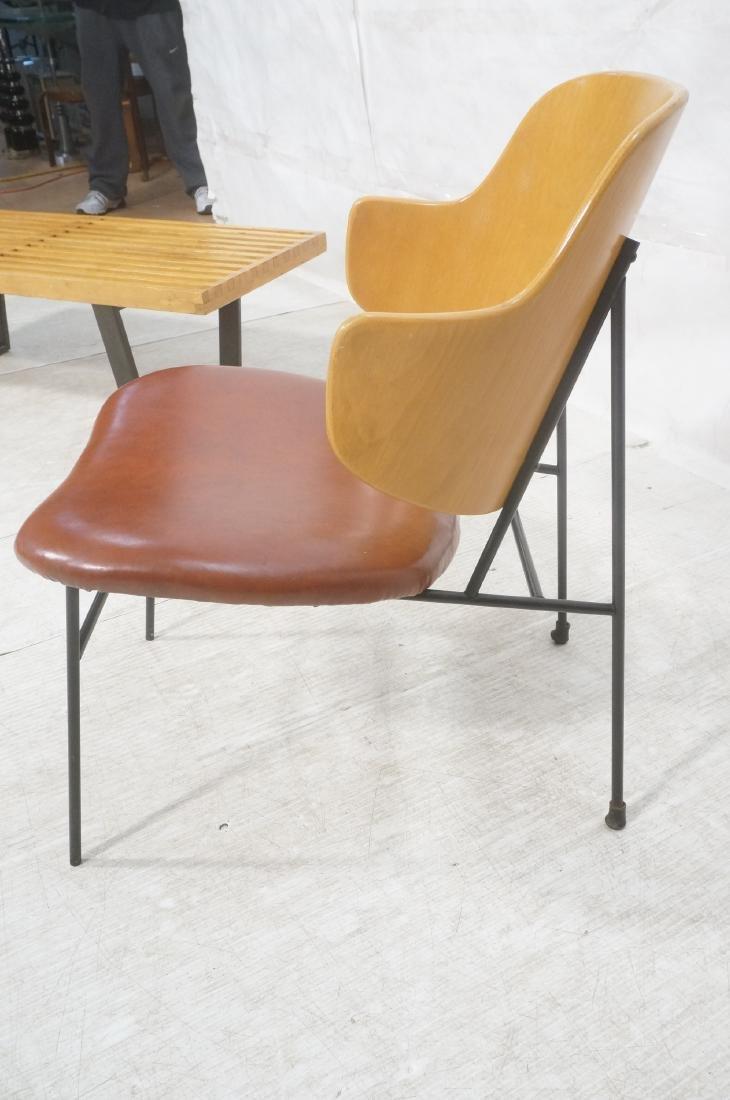KOFOD LARSEN  Danish Modern Lounge Chair. Leather - 3
