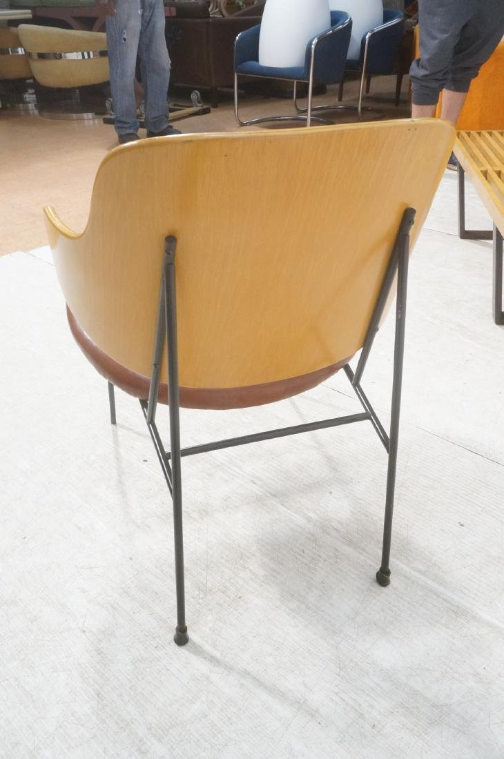 KOFOD LARSEN  Danish Modern Lounge Chair. Leather - 4