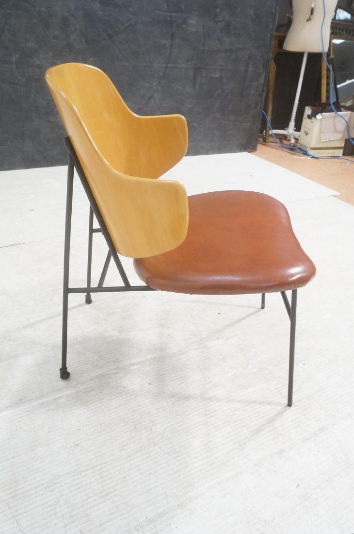 KOFOD LARSEN  Danish Modern Lounge Chair. Leather - 5