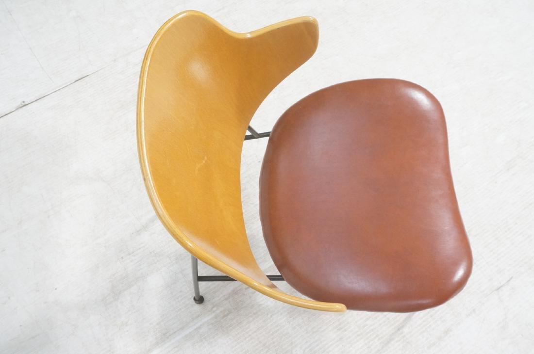 KOFOD LARSEN  Danish Modern Lounge Chair. Leather - 6