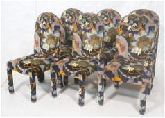 Set 6 Fully Upholstered Modernist Dining Chairs.