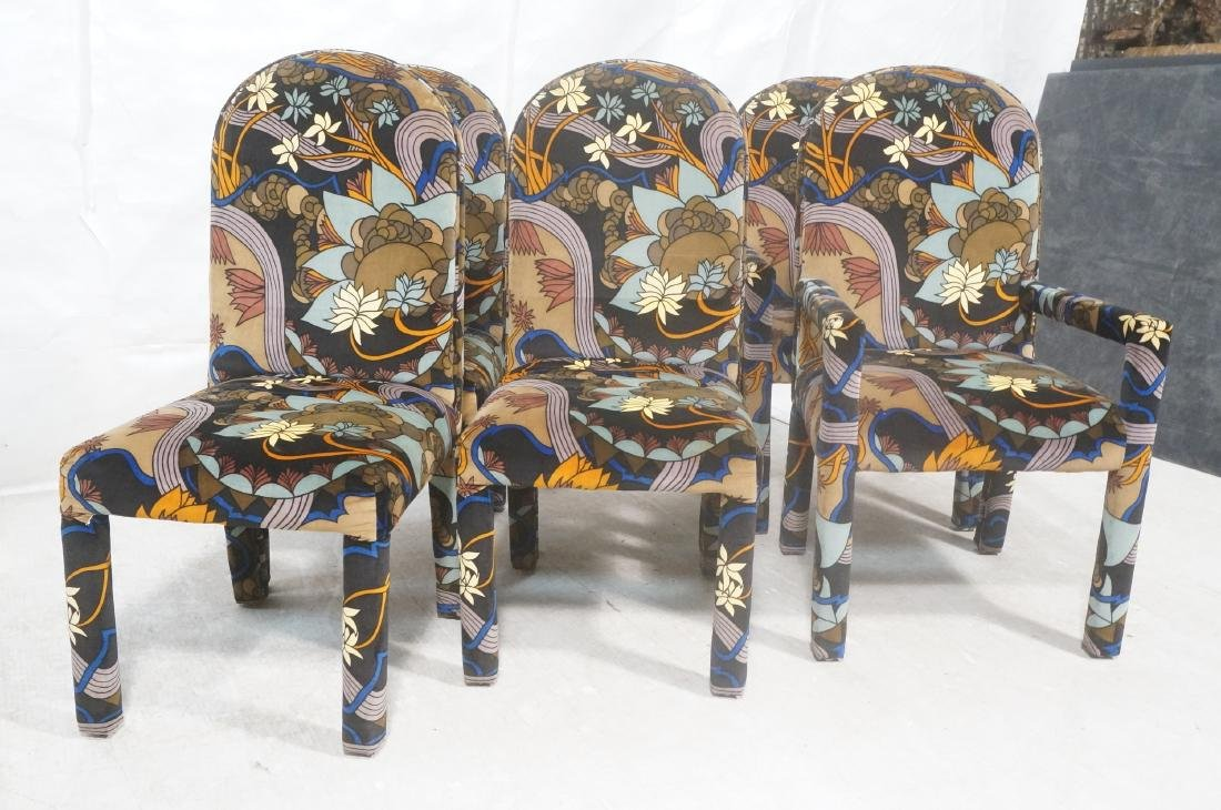 Set 6 Fully Upholstered Modernist Dining Chairs. - 2