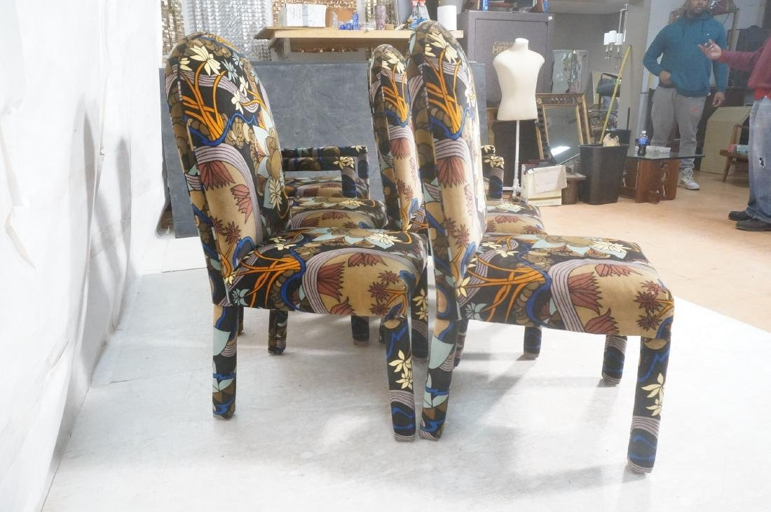 Set 6 Fully Upholstered Modernist Dining Chairs. - 4