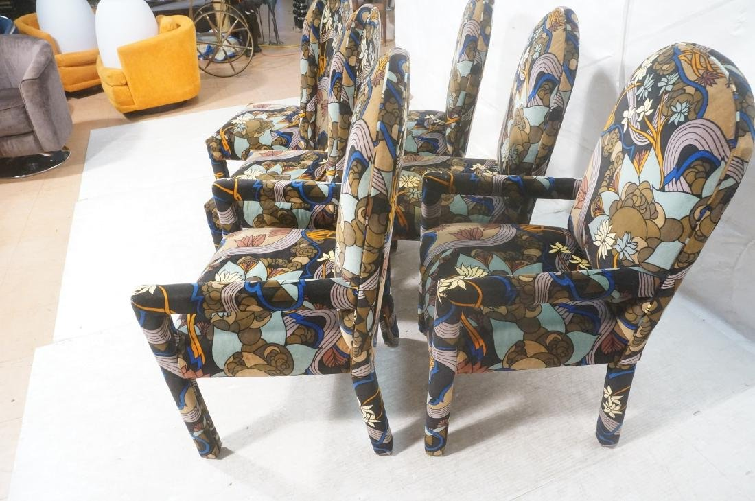 Set 6 Fully Upholstered Modernist Dining Chairs. - 7