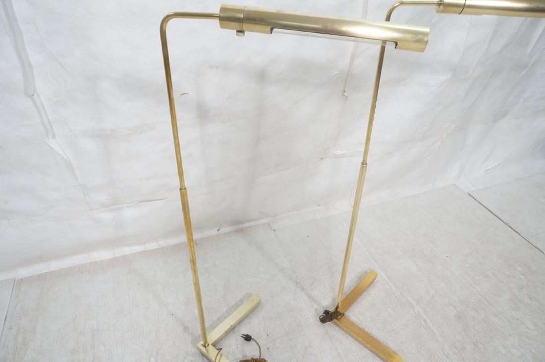 Pr CASELLA Brass Floor Lamps. Brass Corner style - 3