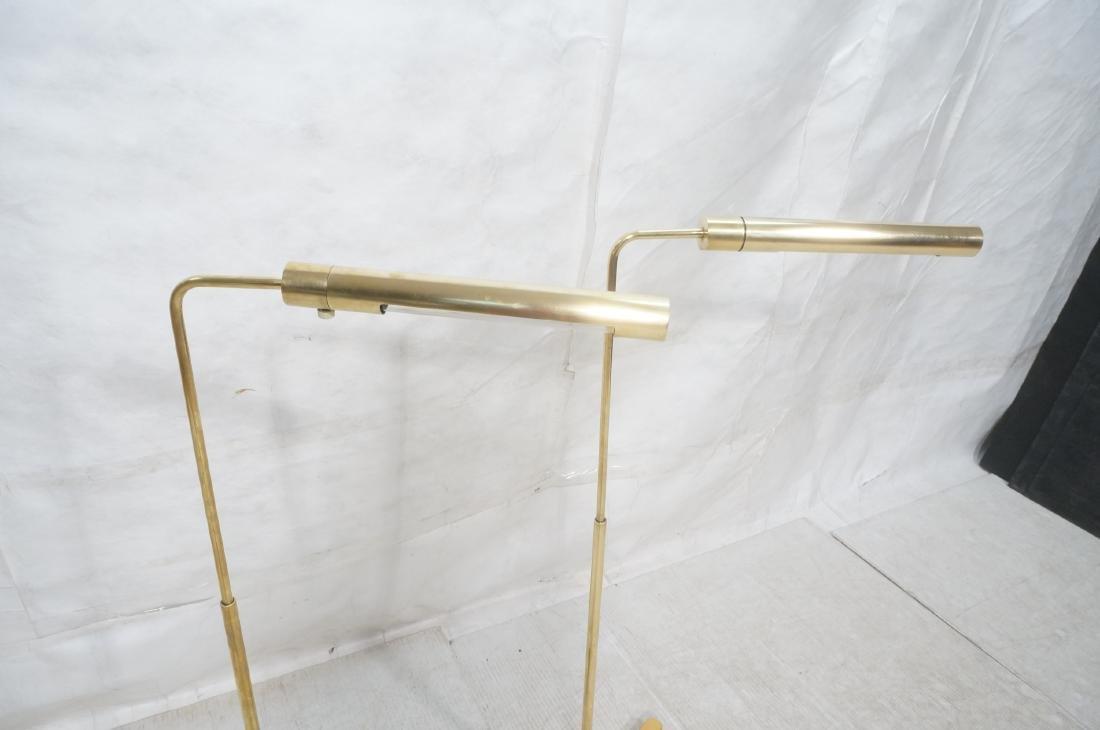Pr CASELLA Brass Floor Lamps. Brass Corner style - 4