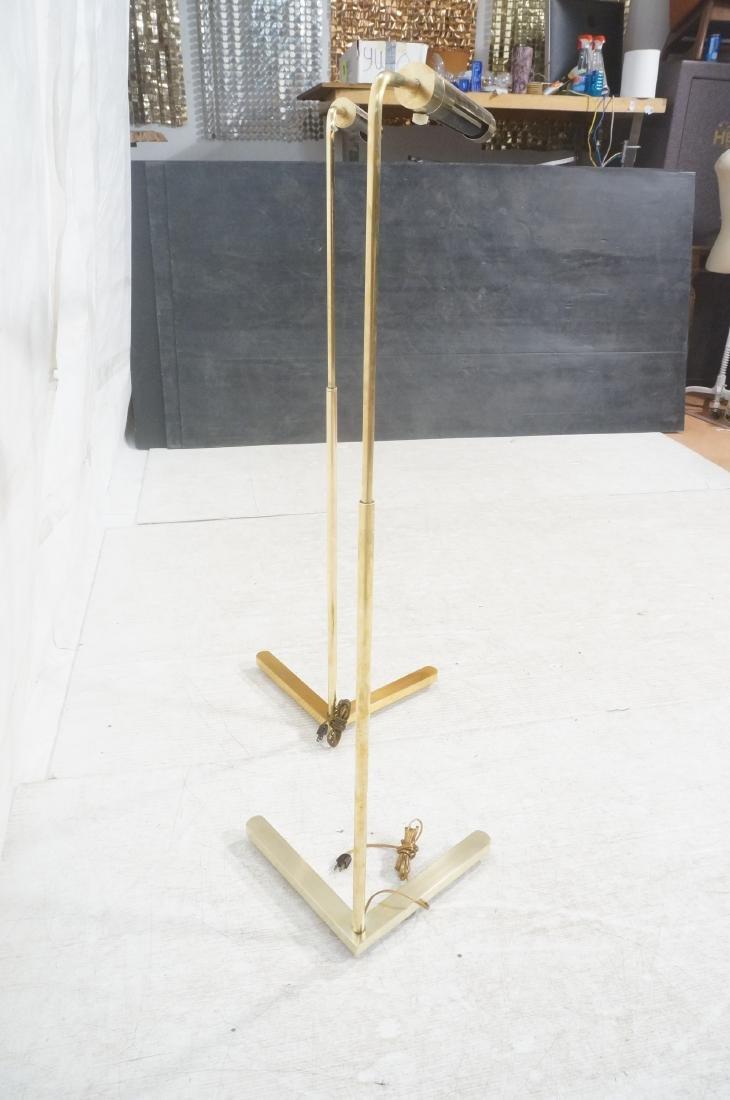 Pr CASELLA Brass Floor Lamps. Brass Corner style - 5