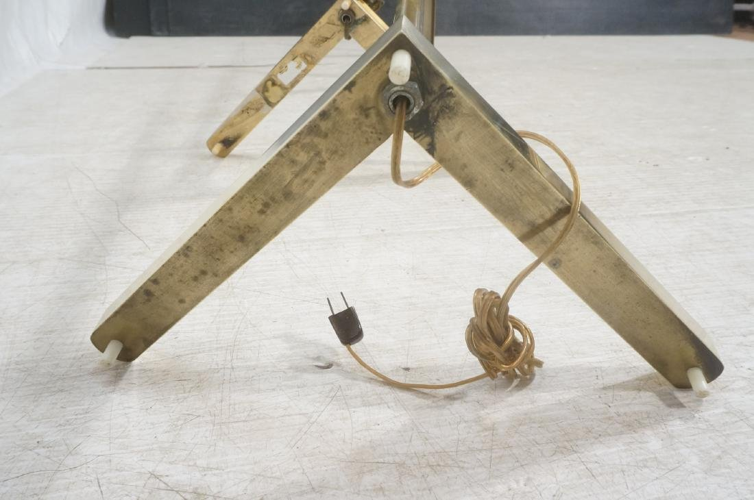 Pr CASELLA Brass Floor Lamps. Brass Corner style - 9