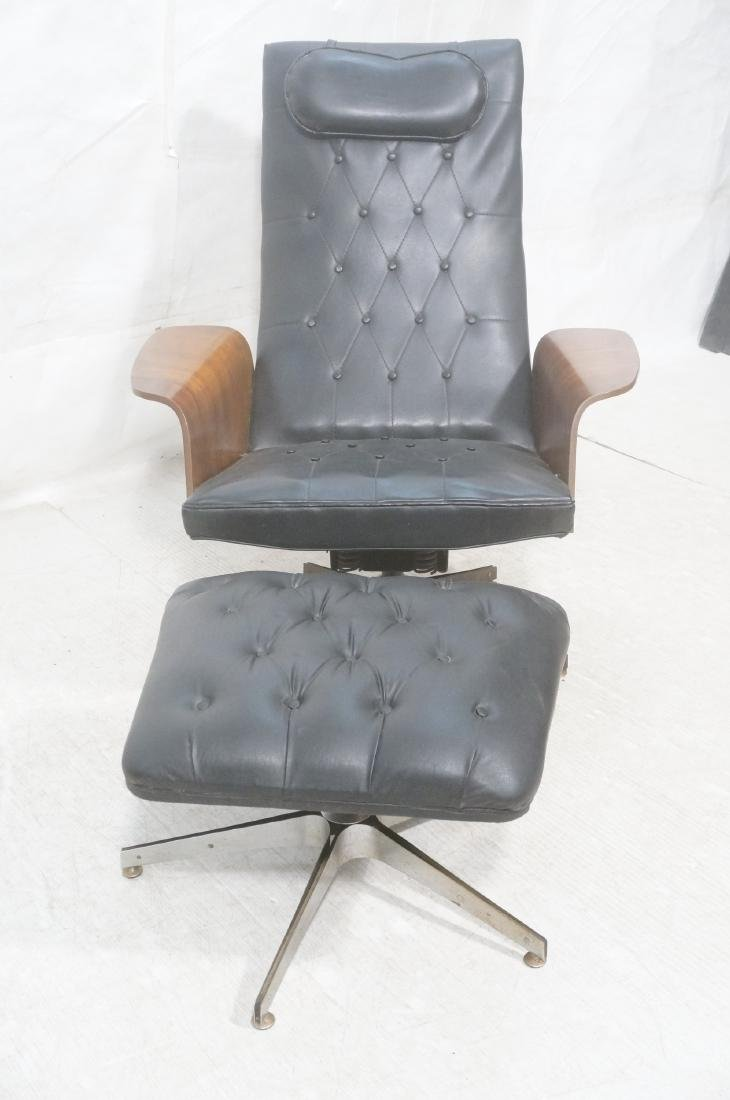 Modernist Lounge Chair & Ottoman. Plycraft style - 2