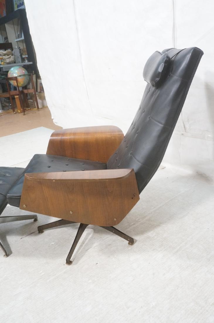 Modernist Lounge Chair & Ottoman. Plycraft style - 3
