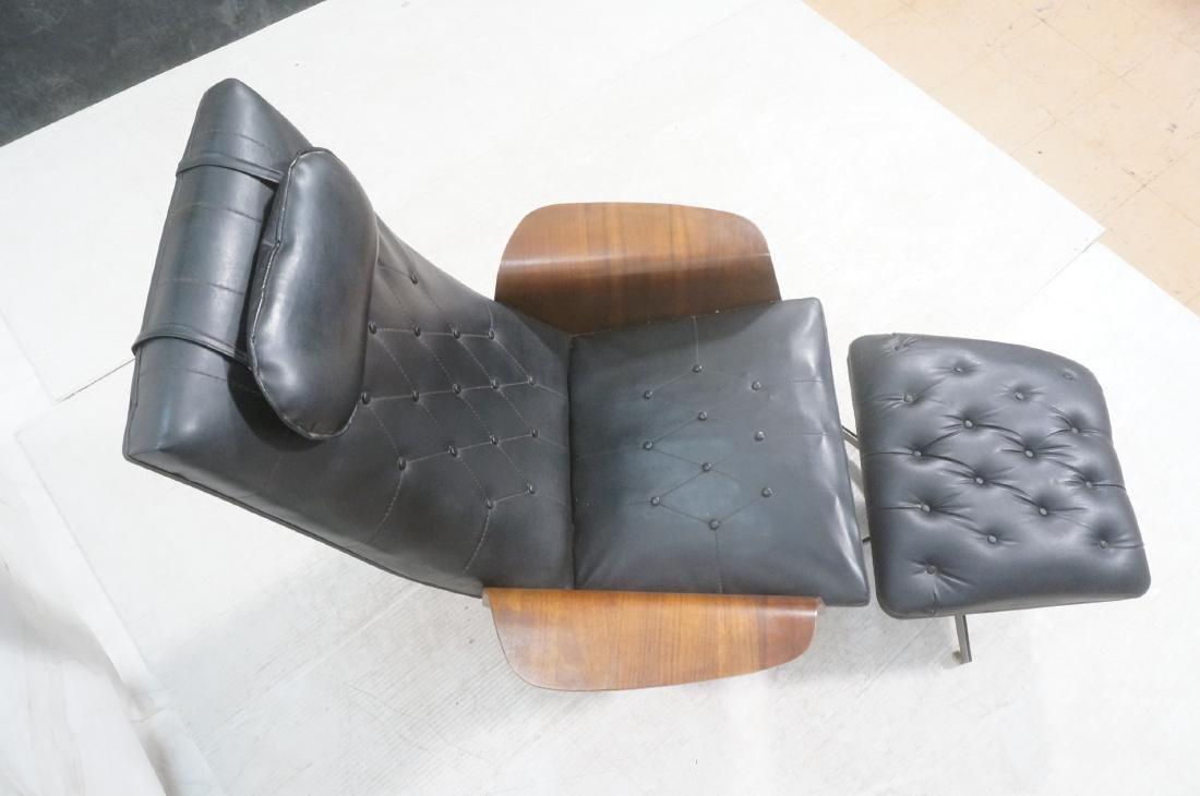 Modernist Lounge Chair & Ottoman. Plycraft style - 5