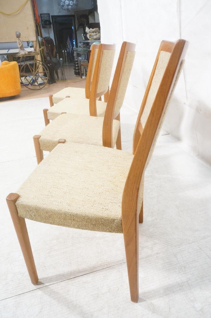 Set 4 Danish Modern Teak Dining Chairs. SVEYARDS. - 10