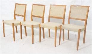 Set 4 Danish Modern Teak Dining Chairs SVEYARDS
