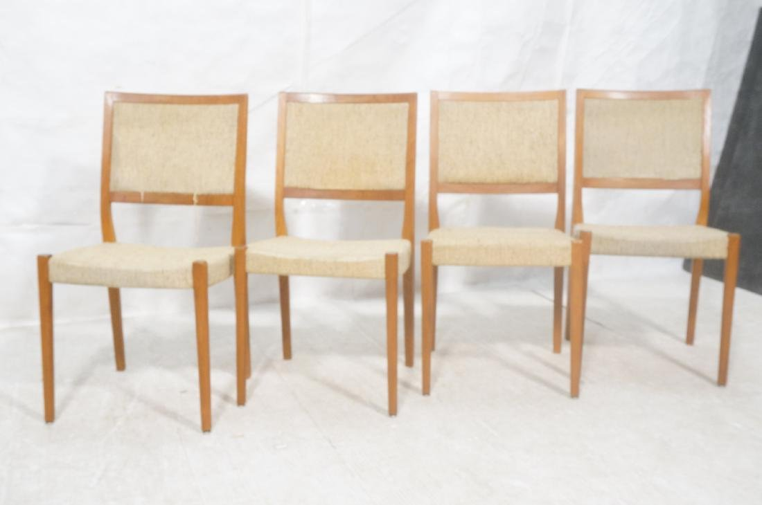 Set 4 Danish Modern Teak Dining Chairs. SVEYARDS. - 2