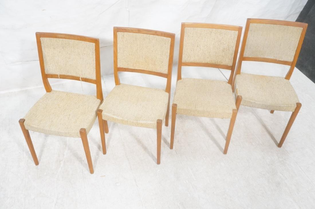 Set 4 Danish Modern Teak Dining Chairs. SVEYARDS. - 3